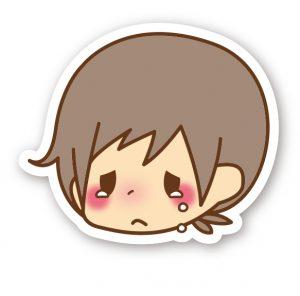 顔男子_泣く