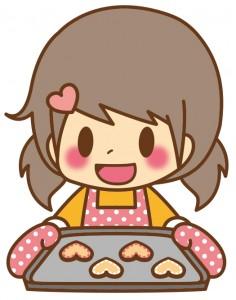女の子_クッキー焼き